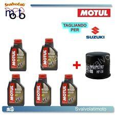 TAGLIANDO FILTRO OLIO + 5LT MOTUL 5100 10W40 SUZUKI VS INTRUDER 1400 2002