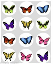 12 Butterflies Butterfly Cupcake Decoration Edible Cake Toppers Real 40mm