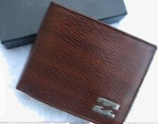 New BILLABONG Mens Boys Wallet Real Leather Brown Card Holder Bifold no box $69