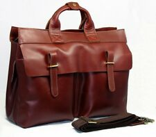 Hot Men Italian Real Leather Tote Briefcase Shoulder Bag Messenger 14 laptop Bag