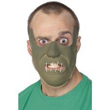 Men's Hannibal Lecter PVC Restraint Face Mask Silence Of The Lambs Fancy Dress