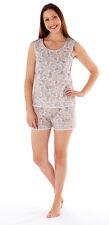 Womens Sleeveless Nightie 100% Cotton Nightwear With Shorts Ladies Size 8-18