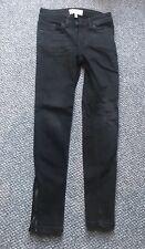 New Mango ISA Black Denim Low Rise Skinny Jeans Size EUR 32