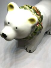 "Holiday Christmas Polar Bear Statue 5"" X 9"" SEE DETAILS"