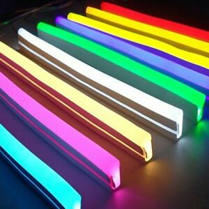 Flexible Led Strip Neon Tape Soft Rope Light Silicone Rubber Tube Outdoor Lights