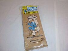 Vtg 1983 package of 25 Smurf Paper Sacks Lunchbags