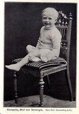 Prince héritier Olaf de Norvège c.1906
