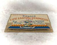 Vintage Writing-Bayard Life Lasting Stainless Pens-Packet & 2 Nibs-Advertising
