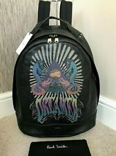PAUL SMITH DREAMER TECHNIQUE BACKPACK BLACK LEATHER RETAIL £895 BNWT