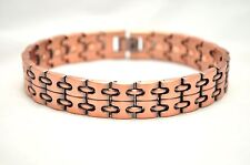 NEW! MENS 8.5 IN COPPER CHAIN HEALING MAGNETIC THERAPY LINK BRACELET: For Pain!
