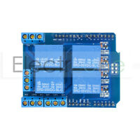 4 Channel Relay Shield Terminal DC 5V Expended Board for Arduino UNO R3