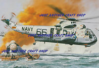 Roy Cross Airfix Westland Sikorsky Sea King Helicopter A4 Poster Artwork 1969