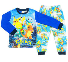 NEW SZ 2-7 KIDS WINTER PYJAMAS SLIM POKEMON GO BOYS SLEEPWEAR CHILDREN PJS TEE