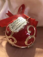 BLACK FRIDAY 2017 PANDORA Red CHRISTMAS Holiday ROCKETTES ORNAMENT. Pre Owned.