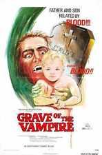 Tombe de vampire Poster 01 métal signe A4 12x8 aluminium