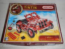 NIB Meccano The Adventures of Tintin 4X4 Truck Jeep Erector Model Set 0551