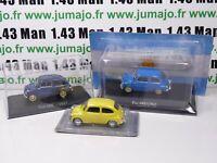 LOT 3 Voitures 1/43 IXO SALVAT: Fiat 600D 1962 Fitito, 600 1957 ARG4+PL13+RBA32