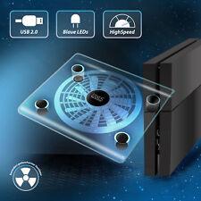 Playstation 4 USB Kühler Lüfter PS4 Ständer blaue LED Beleuchtung Ps3 Slim