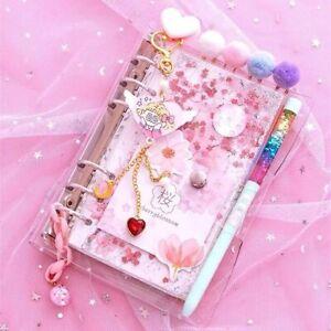 Kawaii Cherry Blossoms A6 Loose Notebook Diary Leaf Journal Agenda Planner Set