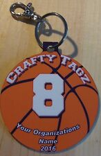BAG TAG LOT of 10 - Basketball Team Custom Ball Shape Christmas Ornament