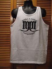 Screen Printed Muscle Shirt Tank, Mischief & Mayhem, M & M Clothing White Size M