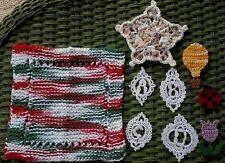 New listing Handmade Crochet Lot-Coaster/Knit Dishcloth/Monograms/Fridg ies-Resell Craft Fair