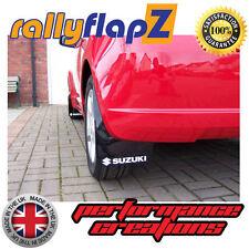rallyflapZ SUZUKI SWIFT ZC72S (2010 Guardabarros Negros Logo Blanco (3mm PVC)