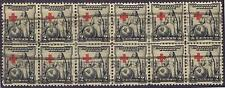 US:'31 2c Red Cross (702) reassembled BLK /12 with SILVER CREEK NY box roller.
