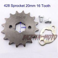 428 16 Tooth 20mm Front Engine Drive Sprocket Lifan YX Loncin Zongshen Pit Bike