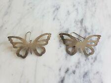 Sterling Silver Ha-ta-weh Butterfly Earrings Laguna Pueblo Native American Mark