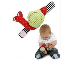 Cute Animal Developmental Soft Stuffed Baby Plush Hand Toys Rattles Kids Bell L