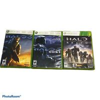 Xbox 360 Halo Lot Of 3 Halo Gam SAnd Tested Halo 3, Halo Reach Halo ODST