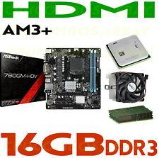 COMBO AMD Athlon X2 255 DUAL CORE CPU+16GB DDR3 RAM+ASROCK 760GM-HDV Motherboard