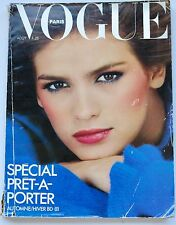 1980 GIA CARANGI Vogue Paris French fashion Helmut Newton Uma Thurman August