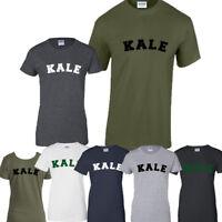 KALE Tumblr T-Shirt Hipster Joke Tee Unisex Vegetarian Vegan Powered by Plants