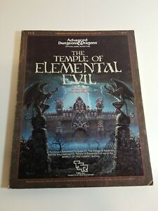 Vintage 1985 TSR - Dungeons And Dragons 9147 Temple Of Elemental Evil T1-4