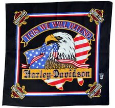 Harley Davidson Bandana - This We Will Defend - New Old Stock - American Eagle