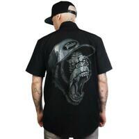 Toxico London Gorilla Mens Button Up Work Shirt Tattoo Alternative Skate