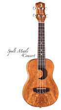 Luna UKE EX SM Exotic Series Ukulele With Wood Fingerboard And Satin Finish
