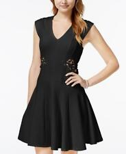 NWT MARILYN MONROE Junior Black Lace Insert Fit-and-Flare Sheath Dress Sz LARGE