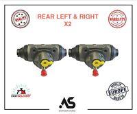 2 X REAR WHEEL BRAKE CYLINDER LH&RH FORD TRANSIT MK6 NISSAN CABSTAR E 25.4 mm