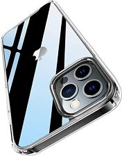 Crystal Clear Case Compatible with iPhone 12 Pro Max Case Hard Back with Flexibl