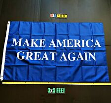 New listing Donald Trump 2020 Flag Free First Class Ship Make America Great Blue One Sided