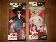 spy vs spy plushes 2 pcs mad soft toys DC direct nib toy figure black & white