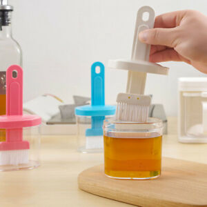 1Pcs Silicone Oil Bottle with Brush Grill Oil Brushes Liquid Oil Pastry Kitchen