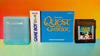 Quest For Camelot  w/ Manual + Case  Nintendo Game Boy Color GB Rare