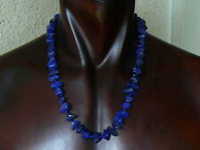 (eB101) MOST ELEGANT  NATURAL  100% LAPISLAZULI BEADS NECKLACE UNISEX