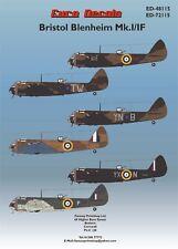Euro Decals BRISTOL BLEIMNHE MK.I/IF Decals  Royal  Air-force  WW11  RAF 1/48