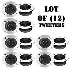 "Lot of (12) Pyle PDBT19 3.75"" Aluminum Bullet Titanium Horn Tweeters 150W RMS"