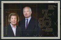Liechtenstein Royalty Stamps 2020 MNH Prince Hans-Adam II Princess Marie 2v M/S
